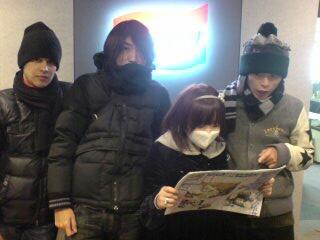 寒空に取材中スタッフ日誌